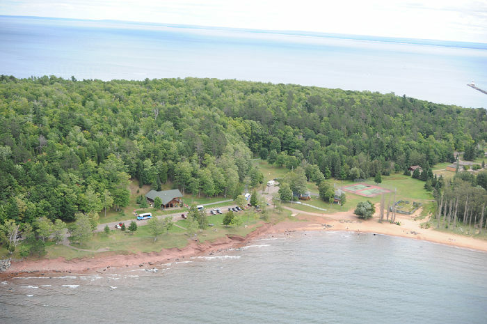 Superior Watershed Partnership office at Presque Isle Park, Marquette, Michigan