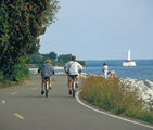Lake Huron shoreline bike ride