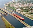 A birds eye view of the Soo Locks