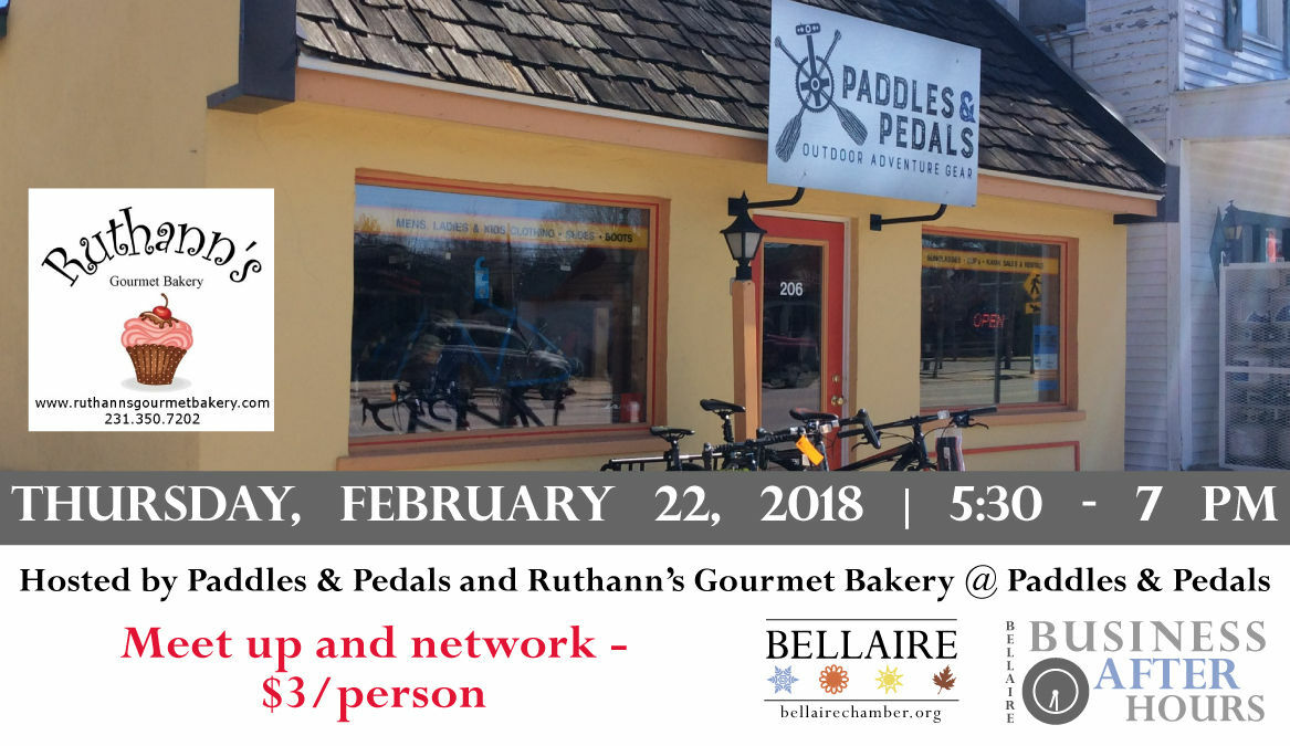 Business After Hours -  Paddles & Pedals / Ruthann's Gourmet Bakery