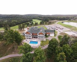 Hawk's Eye Clubhouse Aerial View
