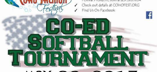 Co-Ed Softball Tournament & 2017 Coho Festival Fundraiser