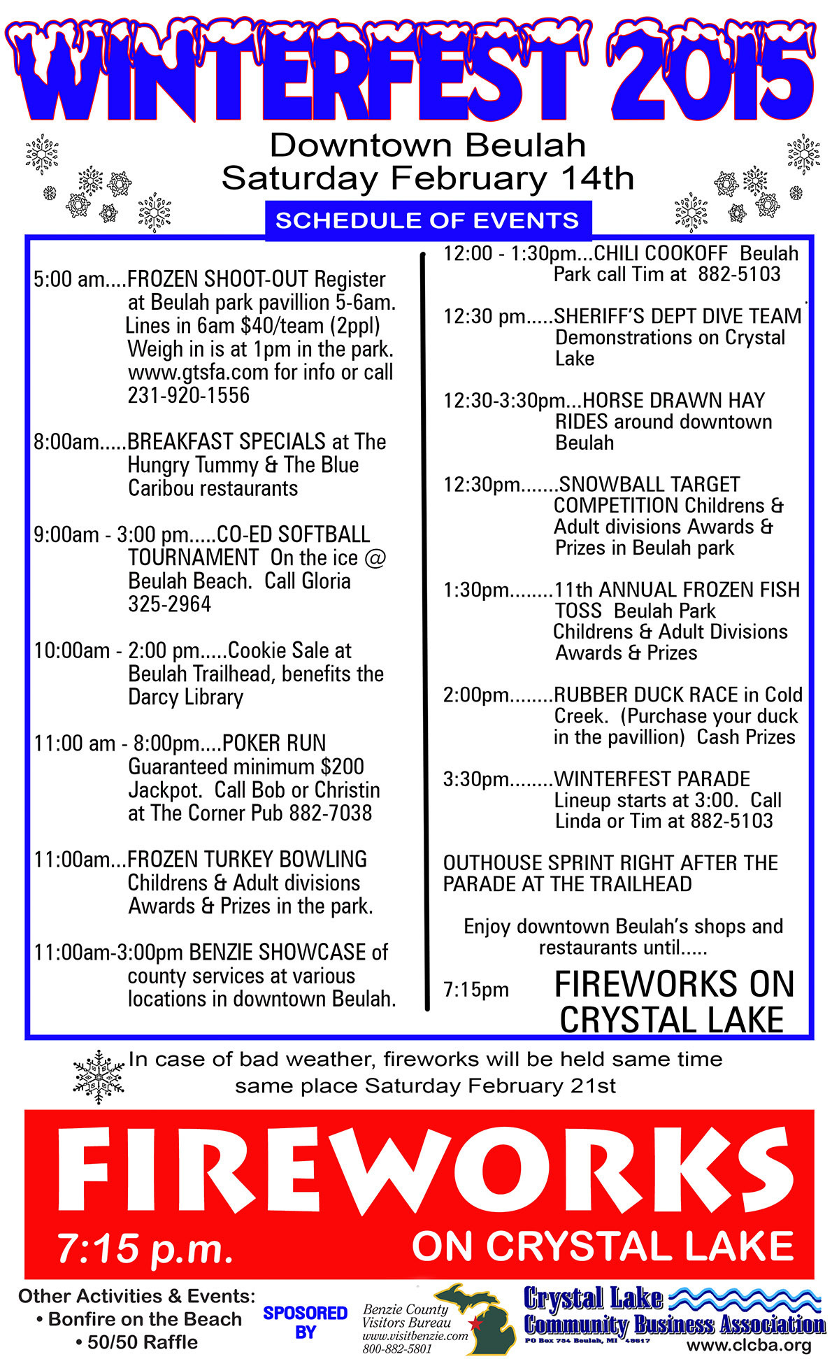 Michigan benzie county benzonia - Sponsored By The Crystal Lake Community Business Association