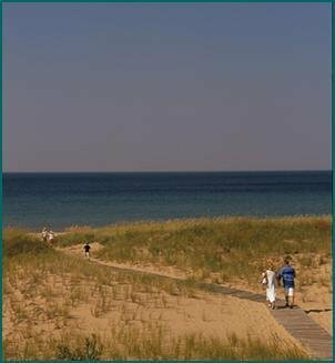 Spend a day on the sandy shores of Lake Michigan in Sleeping Bear Dunes
