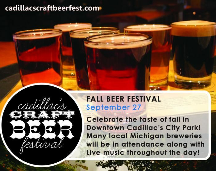 Fall color tours fall cadillac michigan cadillac for Michigan craft beer festival