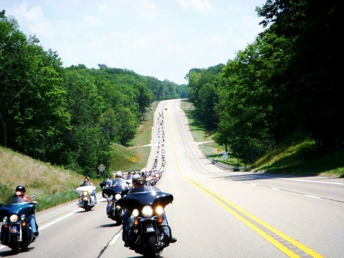 Open road on M-55, west of Cadillac