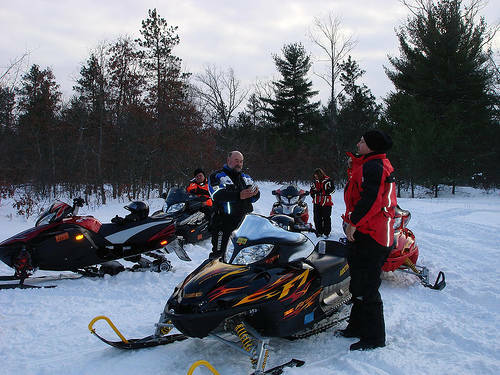 Island Park Snowmobile Trail Report