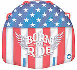 """Built for those who were """"Born to Ride"""", the WOW Born To Ride Deck Tube is made with a new ultra soft top cover that makes for a soft landing everywhere your body touches it. Patriotic graphics are sure to make you feel proud on the water and obviously the best tube to have for any patriotic celebration. Ride it to catch the waves or lay it on the beach to catch the rays."""
