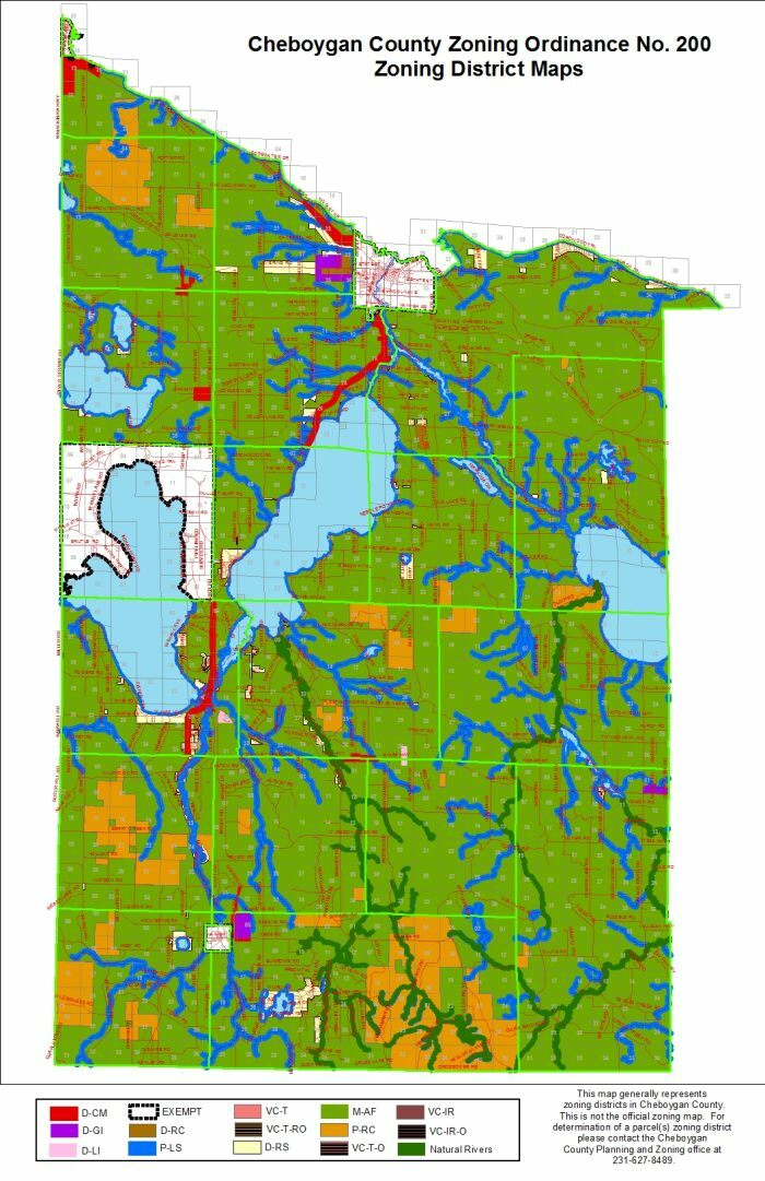 Zoning Ordinance & Map - Cheboygan County