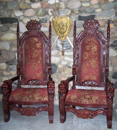 Throne Chairs Suited For A King And Queen!