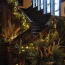 English Gothic oak staircase of  W K Kellogg Manor House
