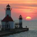 North Pier Lighthouse on Michigan's Sunset Coast, St.Joseph