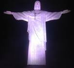 Christ the Redeemer at night.