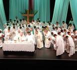 Priests concelebrating Mass