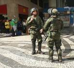 Security in Rio was maximized for World Youth Day, especially when Pope Francis was present. Here, military police stroll the streets. The group has stated that the extra security made them feel safe during the whole trip.