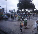 First look at the Copacabana Beach - unseasonably rainy and chilly!