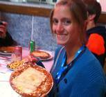 Heather Grant poses with a delicious Brazilian dish!