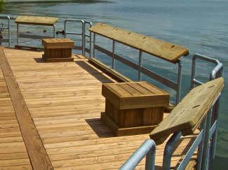 Floating Fishing Pier Customization Options Flotation