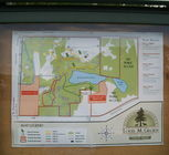 Maps of the park available at the kiosk