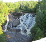 Eagle River Falls in the summer