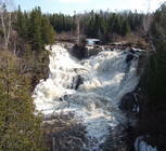 Eagle River Falls in the Spring