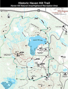 Friendly Ford Monroe Mi >> Highland Recreation Area: Historic Haven Hill Trail ...