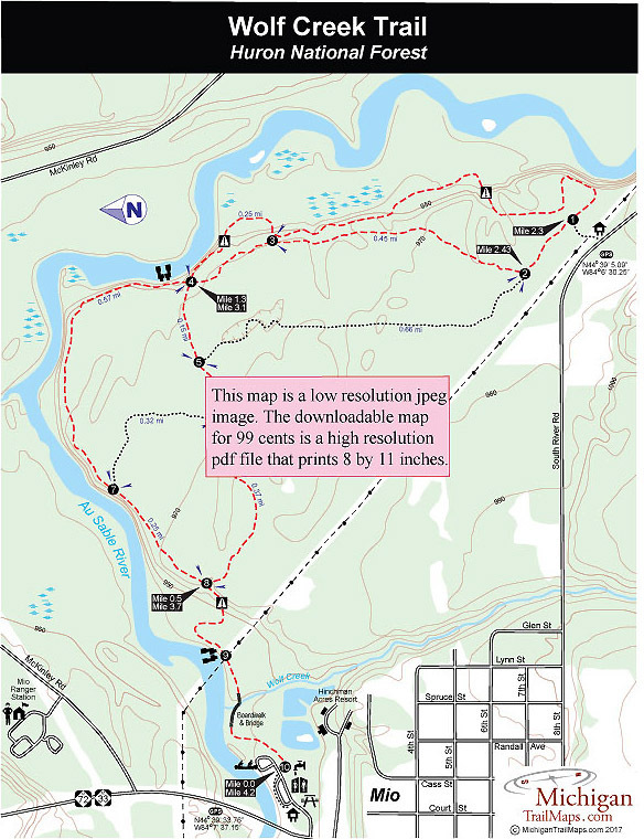 Wolf Creek Trail  Michigan Trail Maps