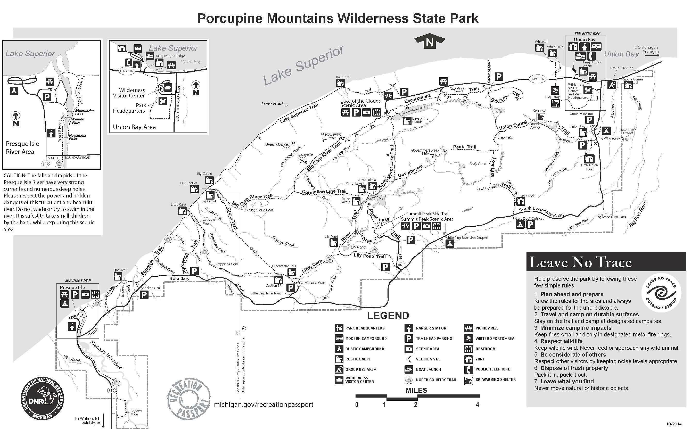 Porcupine Mountains Wilderness State Park Michigan Trail
