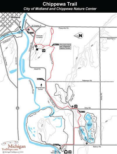 Chippewa Nature Center Trail Map