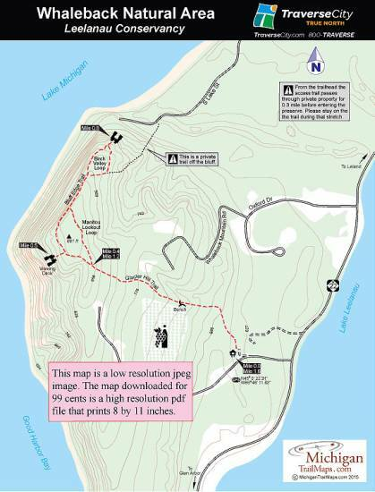 Whaleback Natural Area Michigan Trail Maps