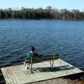 A fishing dock along Crooked Lake.