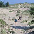 Hiking through the open dunes at Platte Plains.