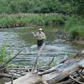 A fly fisherman in the Boardman River.