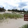 Shoreline dunes at Petoskey State Park.