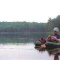 Fishing Byron Lake in a float tube.
