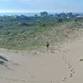 Hiking across the open dunes at Zetterberg Preserve