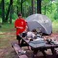 Camping at Wakeley Lake walk-in campground.