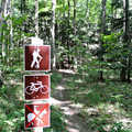 Dry Hill Trails is well posted with signs at junctions.