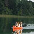 Canoeing on Dickinson Lake.