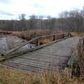 Foot bridge over the Sturgeon River.
