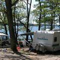 Green Lake Campground at Interlochen State Park.