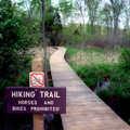 Trail sign along Losee Lake Hiking Trail.