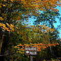 Fall at Ocqueoc Falls Bicentennial Pathway.