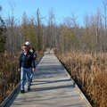 A boardwalk Trail at Independence Oaks.
