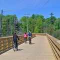The boardwalk across the wetlands west of Tucker Lake.