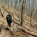 Following the ridges on the North Country Trail.