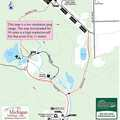 Oden State Fish Hatchery trail map.