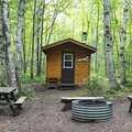 White Birch 2-Bunk cabin along the Superior Loop.