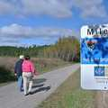 Hikers at Mile 4 of the Leelanau Trail.