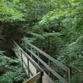 Hardy Dam Nature Trail foot bridge.